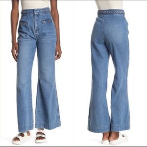 Free People Seasons In The Sun Wide Leg Jeans